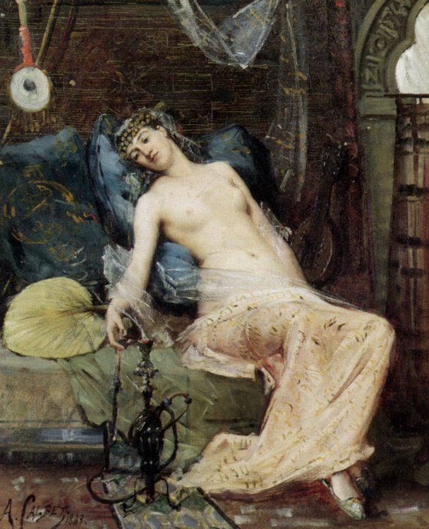 Oriental Beauty :: Antoine Calbet - Arab women ( Harem Life scenes ) in art  and painting ôîòî