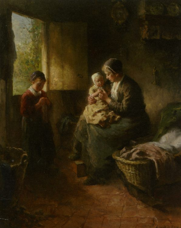 Mothers Joy :: Bernard de Hoog - Woman and child in painting and art фото