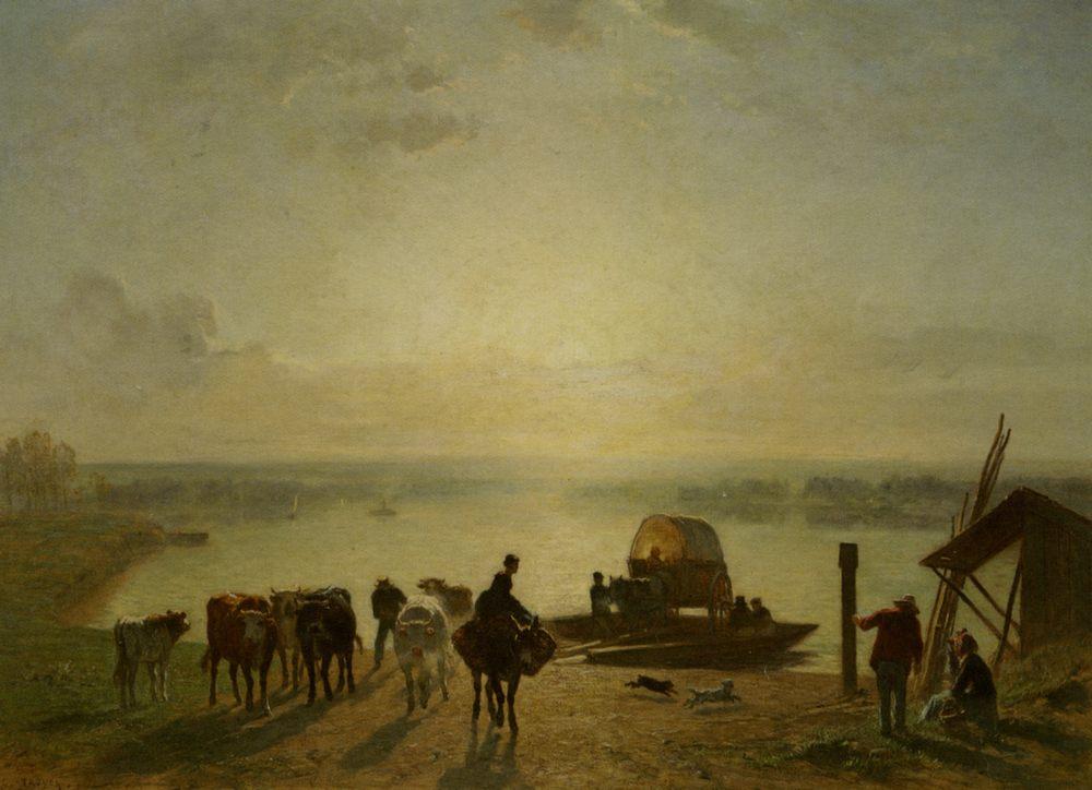 Unloading the Ferry :: Constant Troyon - Village life ôîòî