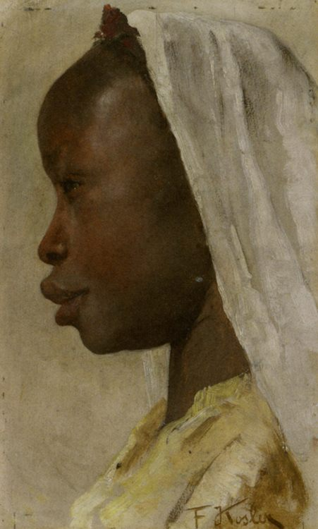 Profile of a Nubian Girl :: Franz Xavier Kosler - 7 female portraits ( the end of 19 centuries ) in art and painting фото
