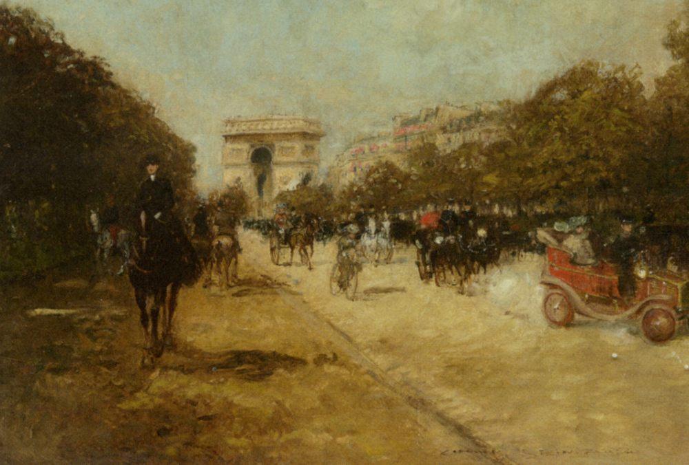 Arc de Triomphe seen from Avenue Foch :: Georges Stein - France ôîòî