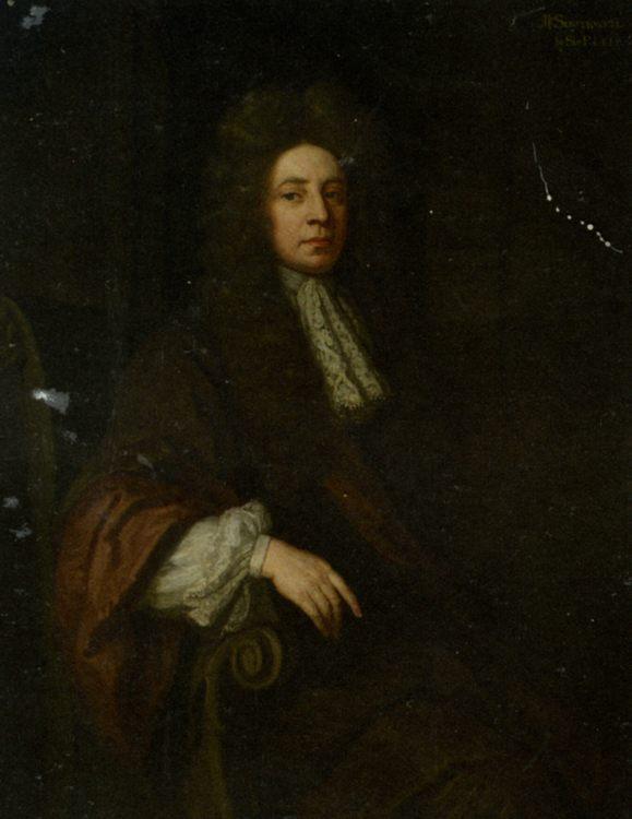 Portrait of Sir Robert Southwell in a Brown Robe :: Godfrey Kneller - men's portraits 17th century ôîòî