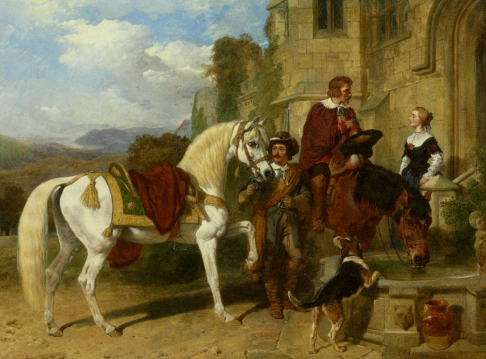 A Letter of Intent :: John Frederick Herring Snr - Romantic scenes in art and painting фото