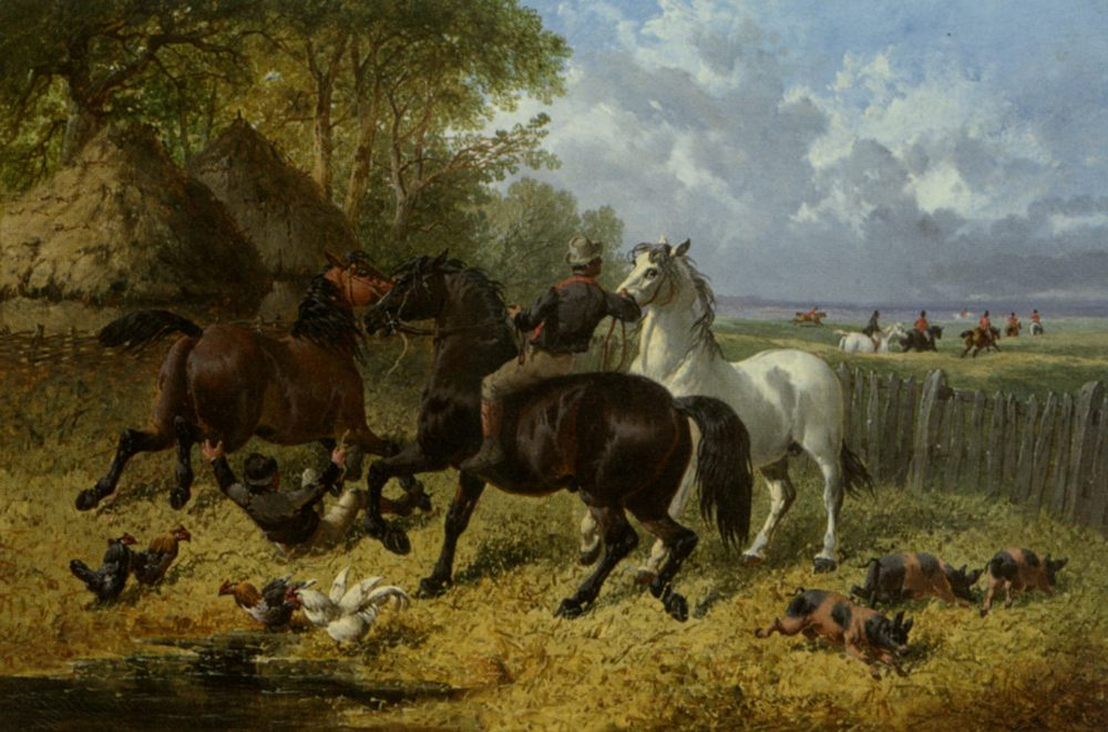 The Passing Hunt :: John Frederick Herring - Horses in art фото