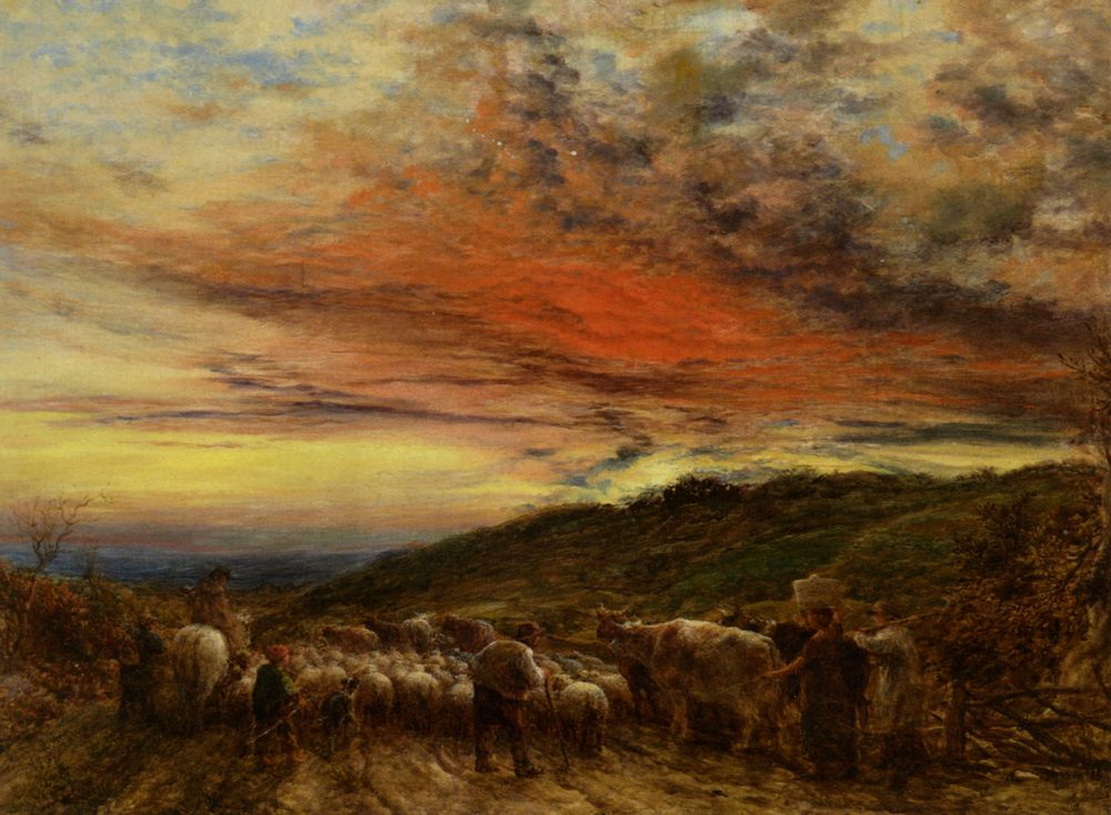 Homeward Bound :: John Linnell  - Sunset and sunrise, sundown ôîòî