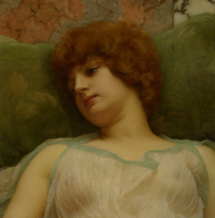 Idle Moments :: John William Godward - Antique beauties in art and painting фото