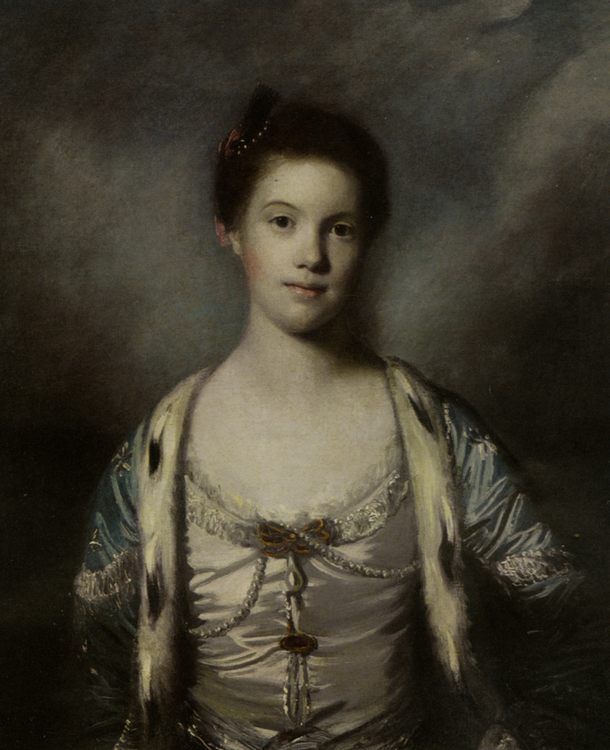 Portrait of Bridget Moris in a White Silk Dress :: Joshua Reynolds - 4 women's portraits 18th century hall ôîòî