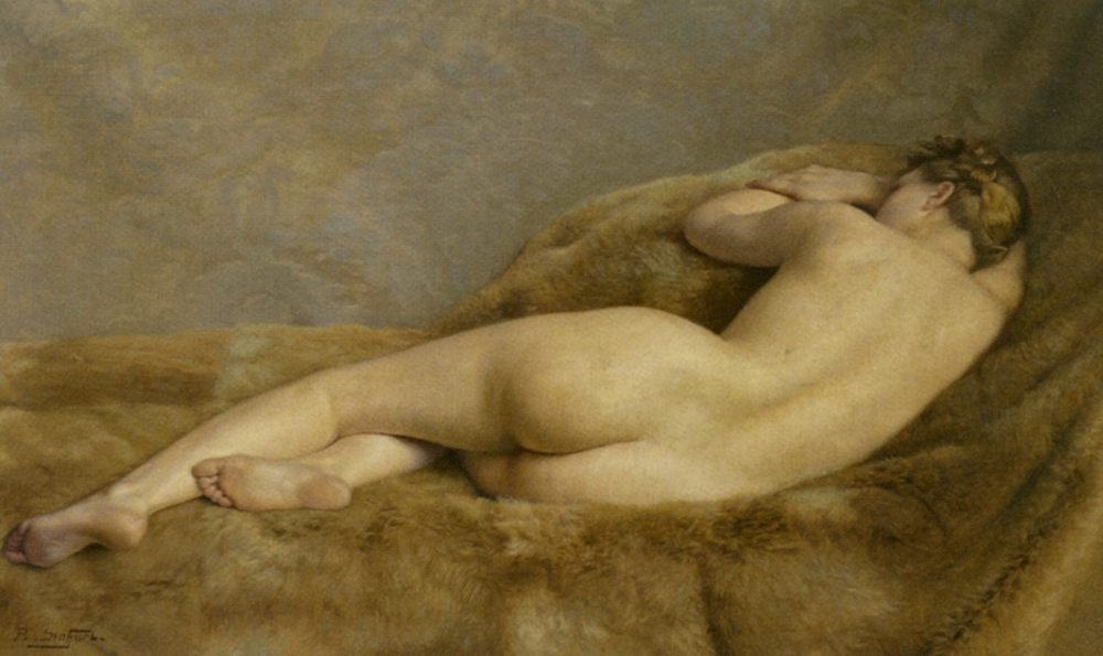 Reclining Nude [ Female back ] :: Paul Sieffert  - Nu in art and painting фото