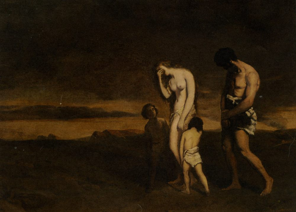 Punishment of Cain :: Theodore Chasseriau - mythology and poetry фото