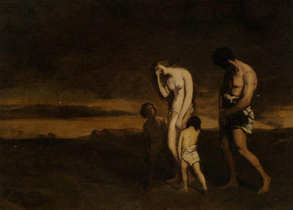 Punishment of Cain :: Theodore Chasseriau - mythology and poetry ôîòî