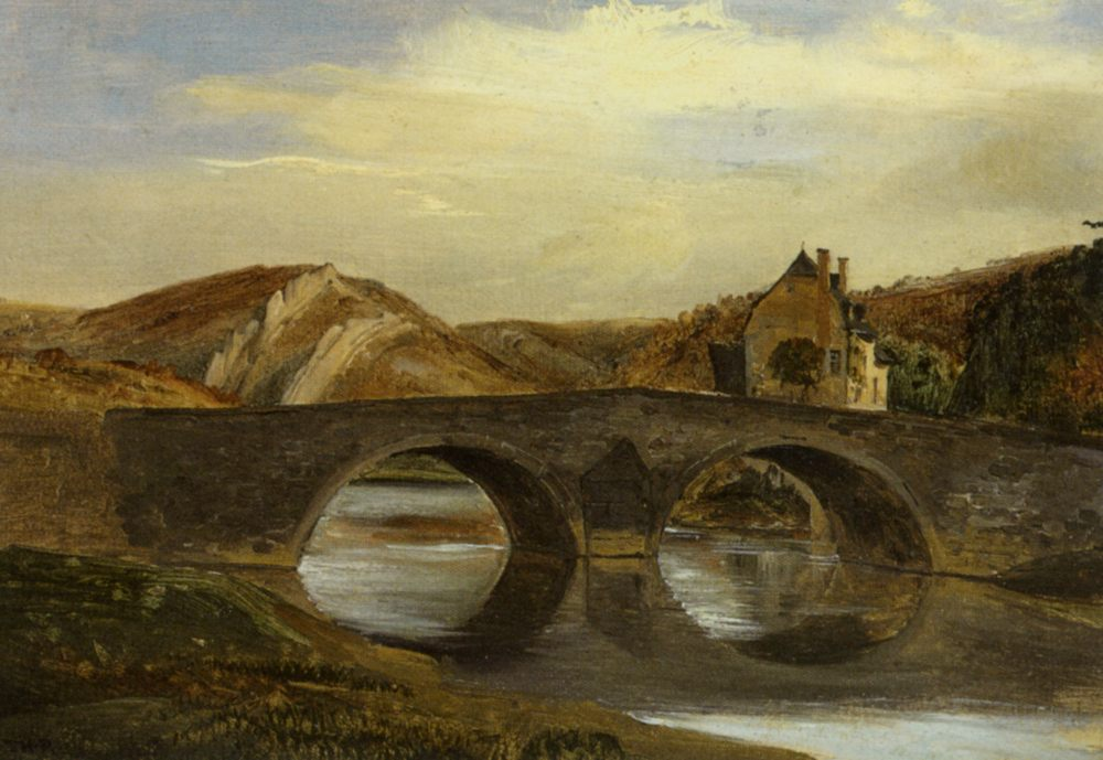 Bridge in the Jura :: Theodore Rousseau - River landscapes ôîòî