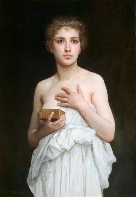 Pandora :: William Adolphe Bouguereau - mythology and poetry фото
