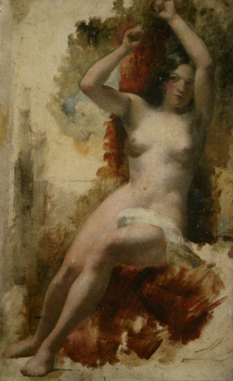 Study of a Seated Nude :: William Etty - Nu in art and painting фото