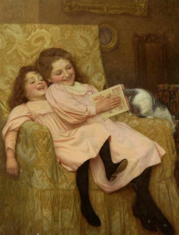 Gore Teasing The Cat :: William Henry - Portraits of young girls in art and painting фото