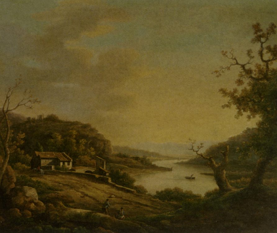 A River Landscape :: William Marlow - River landscapes фото