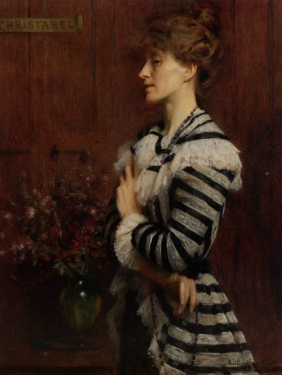 Portrait of Christabel Cockerell :: Arthur Hacker - 8 female portraits hall фото