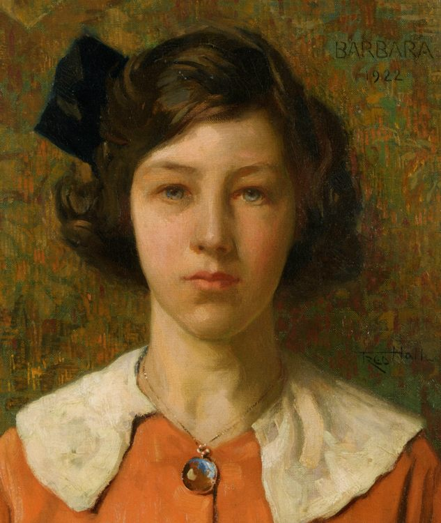 Portrait of Barbara the Artists Daughter :: Frederick Hall - Portraits of young girls in art and painting ôîòî