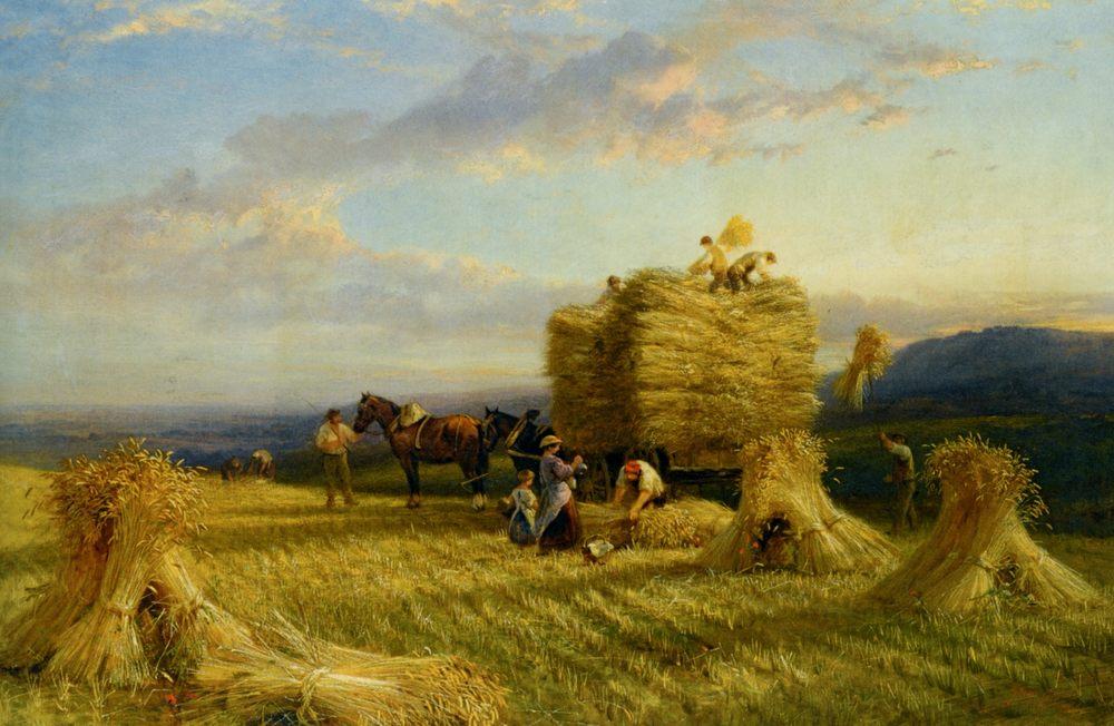 The Last Load :: George Cole - Village life фото