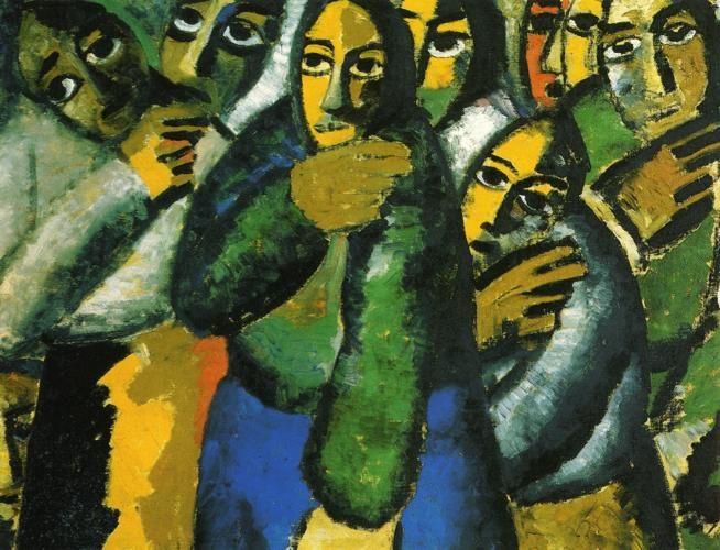 Peasant Women in a Church :: Kazimir Malevich - 8 female portraits hall ôîòî
