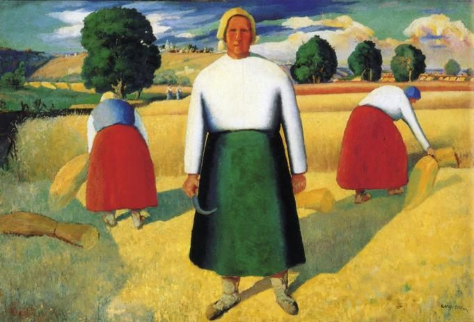 Reapers :: Kazimir Malevich - 8 female portraits hall фото