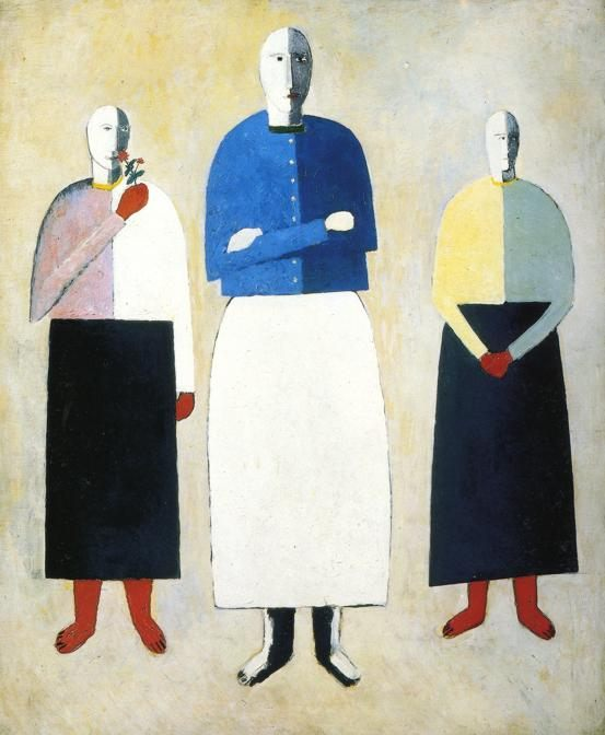 Three Girls :: Kazimir Malevich - 8 female portraits hall фото