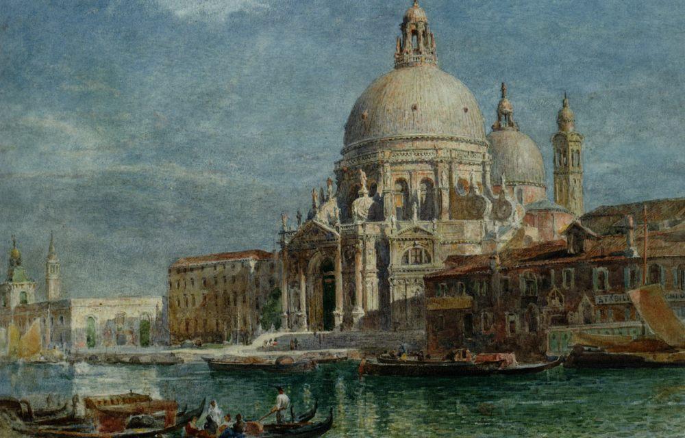 Basilica di Santa Maria della Salute from the Grand Canal :: Edward Angelo Goodall  - Venice фото