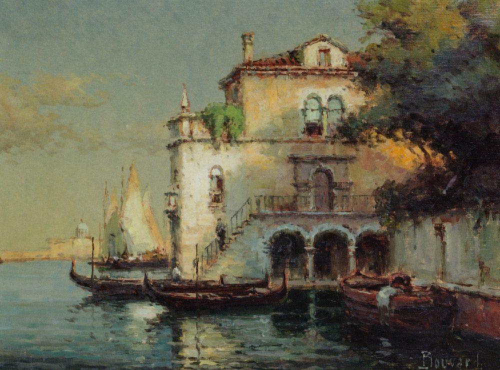 Venetian Backwater with Gondolas :: Noel Bouvard - Venice фото