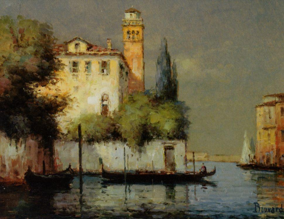 Venetian Palazzo with Santa Maria Della Salute in the Background :: Noel Bouvard - Venice фото