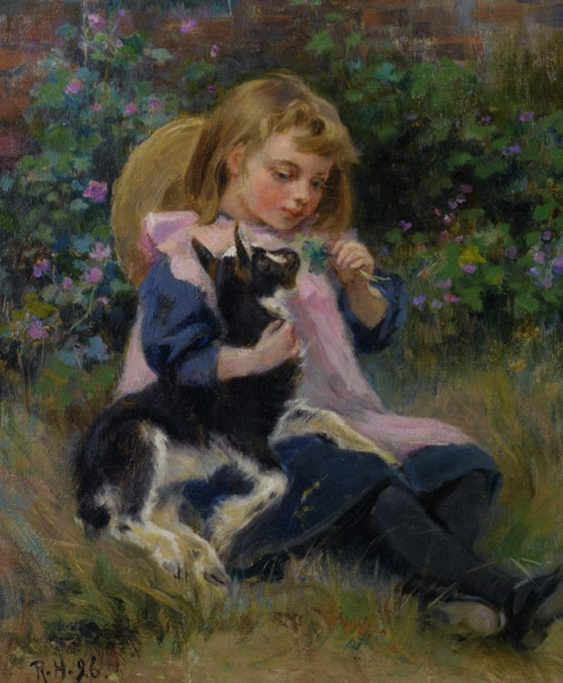 Friends :: Ralph Hedley - Portraits of young girls in art and painting фото