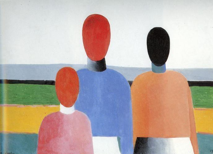 Three Woman Figures :: Kazimir Malevich - 8 female portraits hall фото