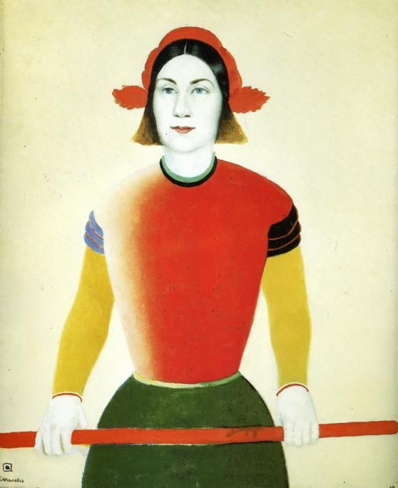 Girl with Red Flagpole :: Kazimir Malevich - 8 female portraits hall фото