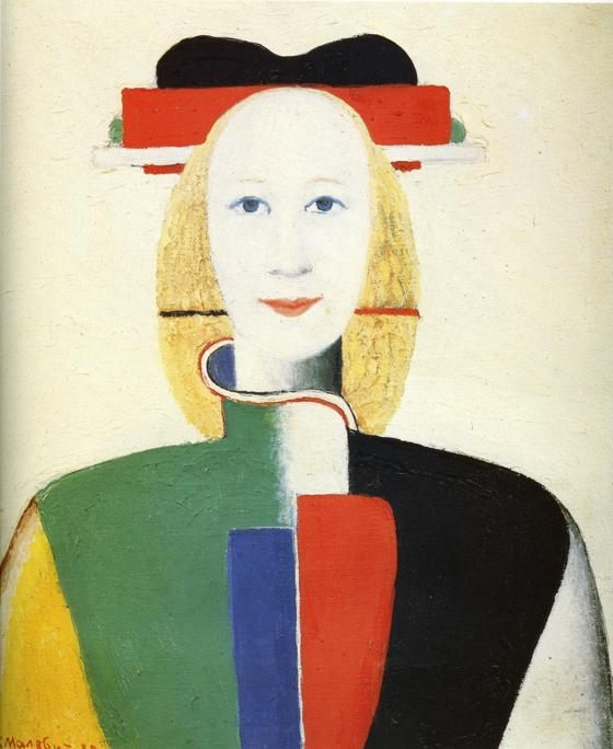 avangard portrait Girl with a Comb in Her Hair :: Kazimir Malevich - 8 female portraits hall ôîòî