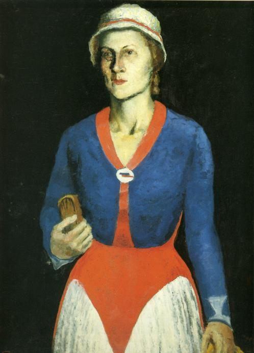 Portrait of Artist's Wife N.A. :: Kazimir Malevich - 8 female portraits hall ôîòî