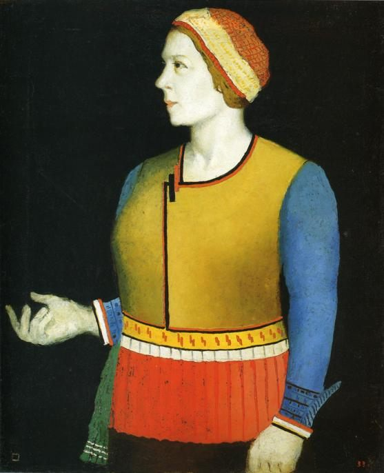 Portrait of Artist's Wife N.A. Malevich :: Kazimir Malevich - 8 female portraits hall фото
