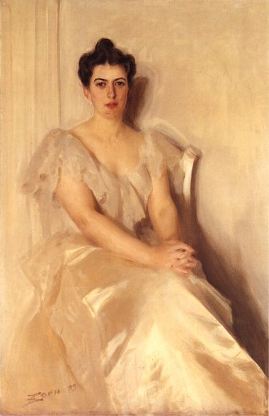 Mrs Frances Cleveland :: Anders Zorn - 7 female portraits ( the end of 19 centuries ) in art and painting фото