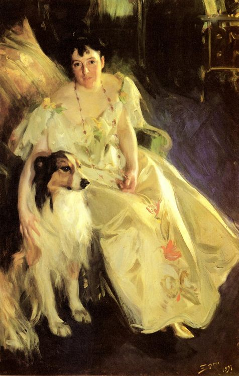 Mrs. Bacon :: Anders Zorn - 7 female portraits ( the end of 19 centuries ) in art and painting фото