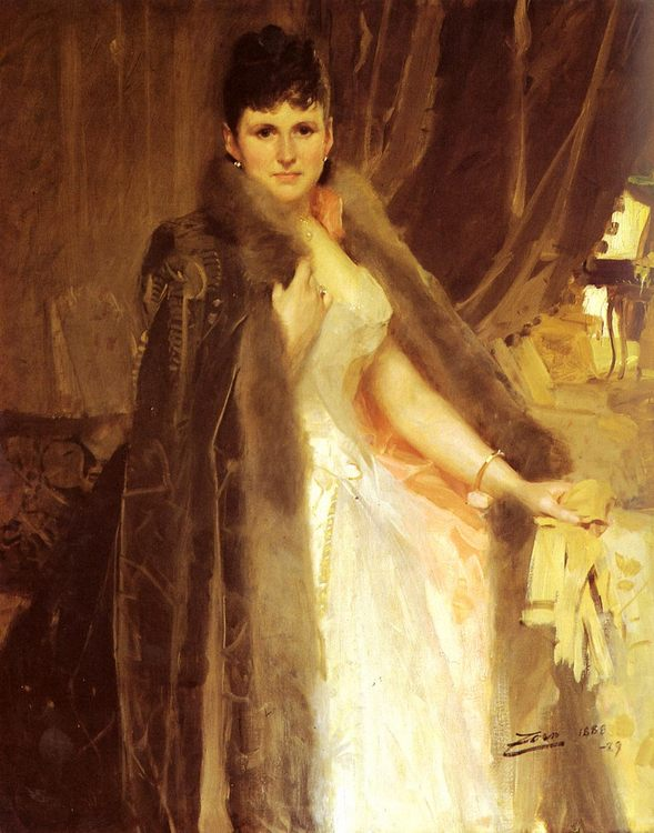 Mrs. Symons :: Anders Zorn  - 7 female portraits ( the end of 19 centuries ) in art and painting ôîòî