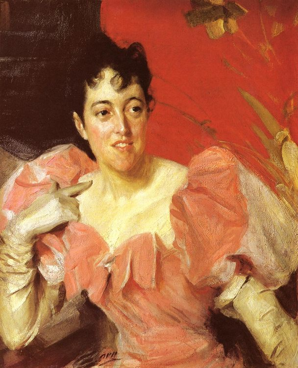 Mrs. Walter Bacon :: Anders Zorn  - 7 female portraits ( the end of 19 centuries ) in art and painting фото