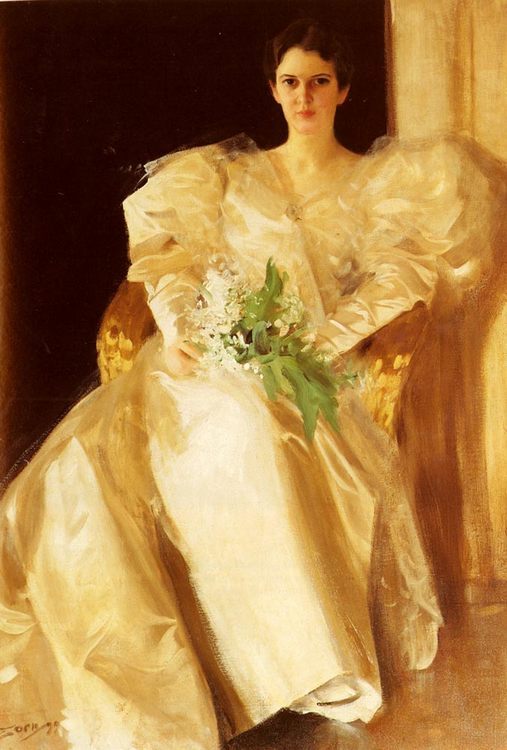 Portrait Of Mrs. Eben Richards :: Anders Zorn  - 7 female portraits ( the end of 19 centuries ) in art and painting ôîòî