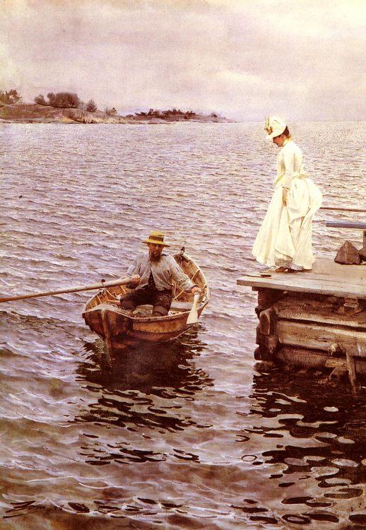 Summer Fun :: Anders Zorn - Romantic scenes in art and painting ôîòî