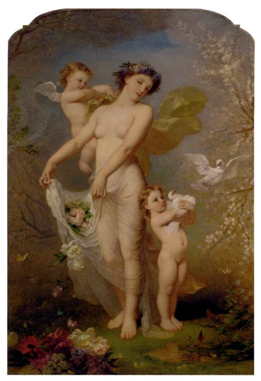 Allegory Of Spring :: Andre Charles Voillemot  - Allegory in art and painting фото