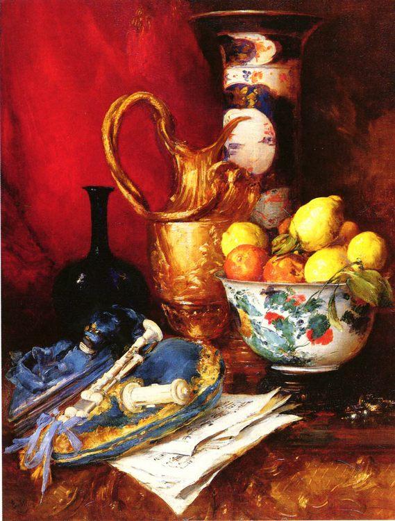 A Still Life with a Bowl of Fruit :: Antoine Vollon - Still-lives with fruit ôîòî