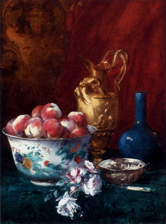 Still Life With Peaches :: Antoine Vollon - Still-lives with fruit фото