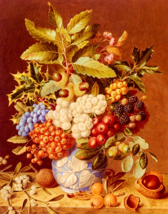 Winter Still Life :: Augusta Innes Withers - Still-lives with fruit фото