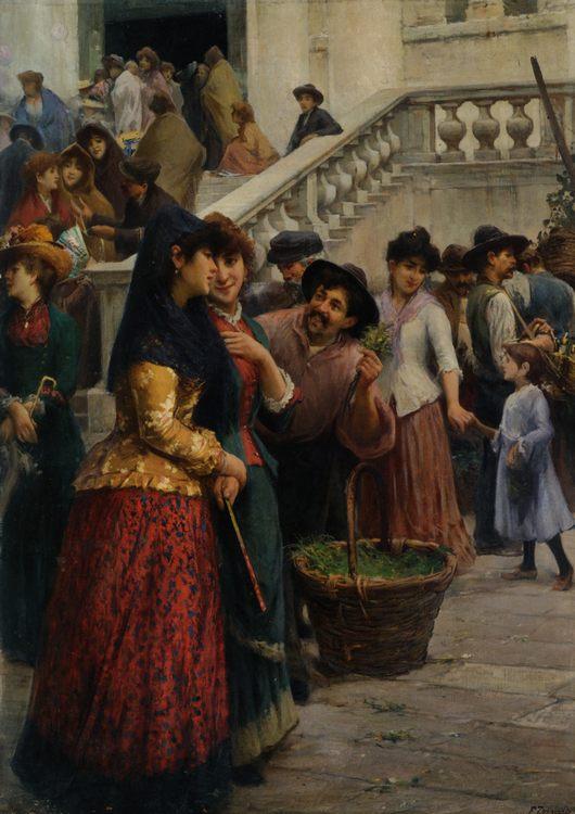 Redentore :: Fausto Zonaro - Street and market genre scenes фото
