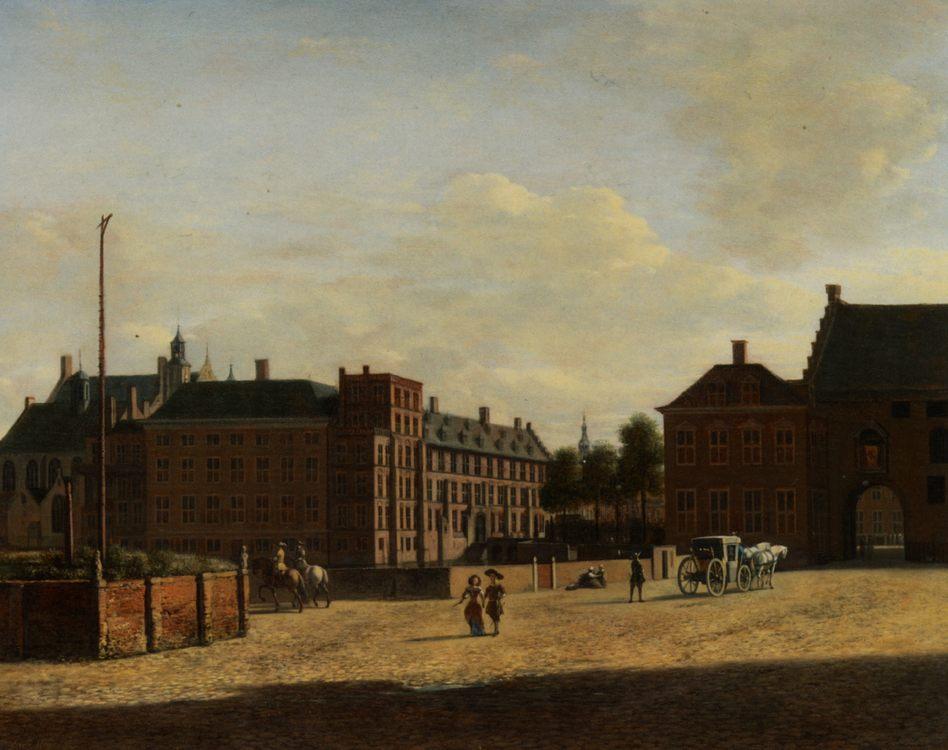 Plaats with The Binnenhof and The Gevangenport The Hague:: Gerrit Adriaensz. Berckheyde - Architecture фото