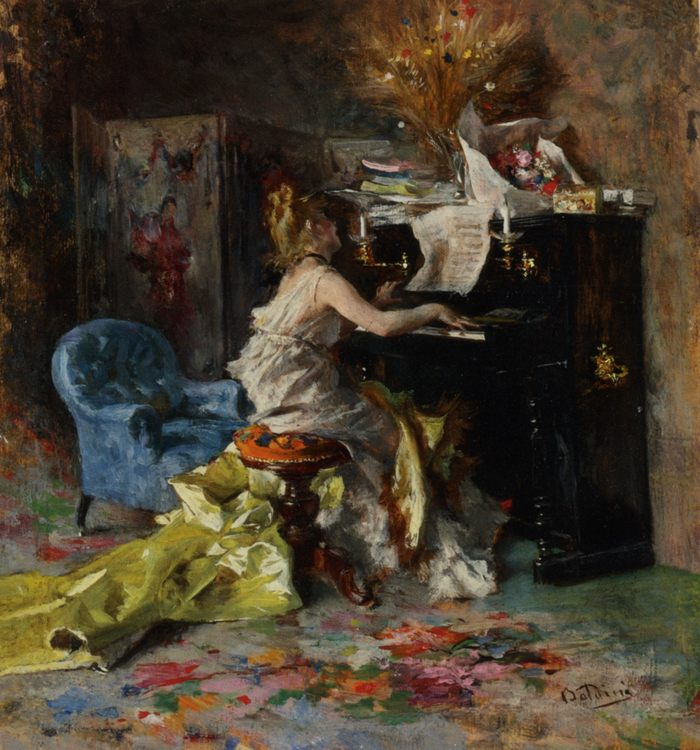Lady at Piano :: Giovanni Boldini - 7 female portraits ( the end of 19 centuries ) in art and painting фото