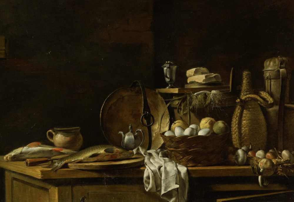 Kitchen Table Still Life :: Nicolas Henry Jeurat de Bertry - Still Lifes ôîòî