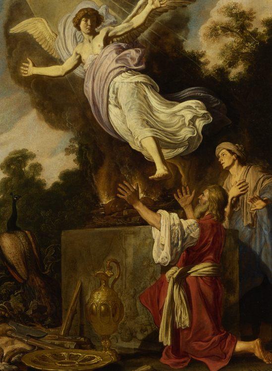 Sacrifice of Manoah :: Pieter Lastman - Bible scenes in art and painting ôîòî