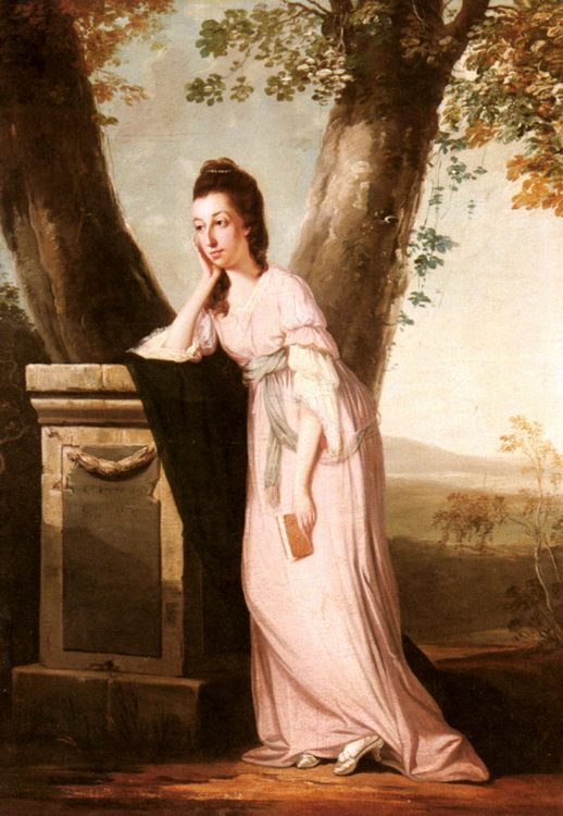 Portrait of a Lady, said to be Thesesa Parker (1744-1775), Wife of John Parker, Later Lord Borington :: Benjamin Wilson  - 4 women's portraits 18th century hall фото